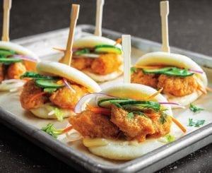 Karaage Chicken Bao Buns - Asian-style chicken bites