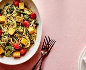 Green Goddess Pasta Bowl With Tofu