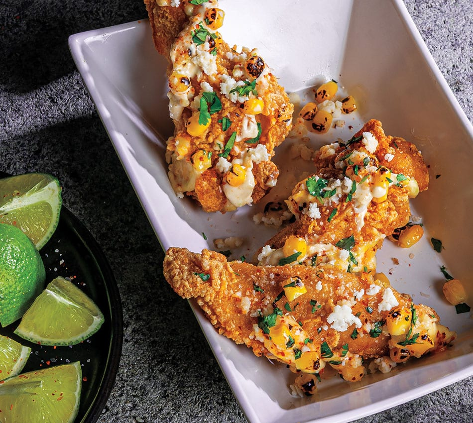 Mexican Street Corn Wings