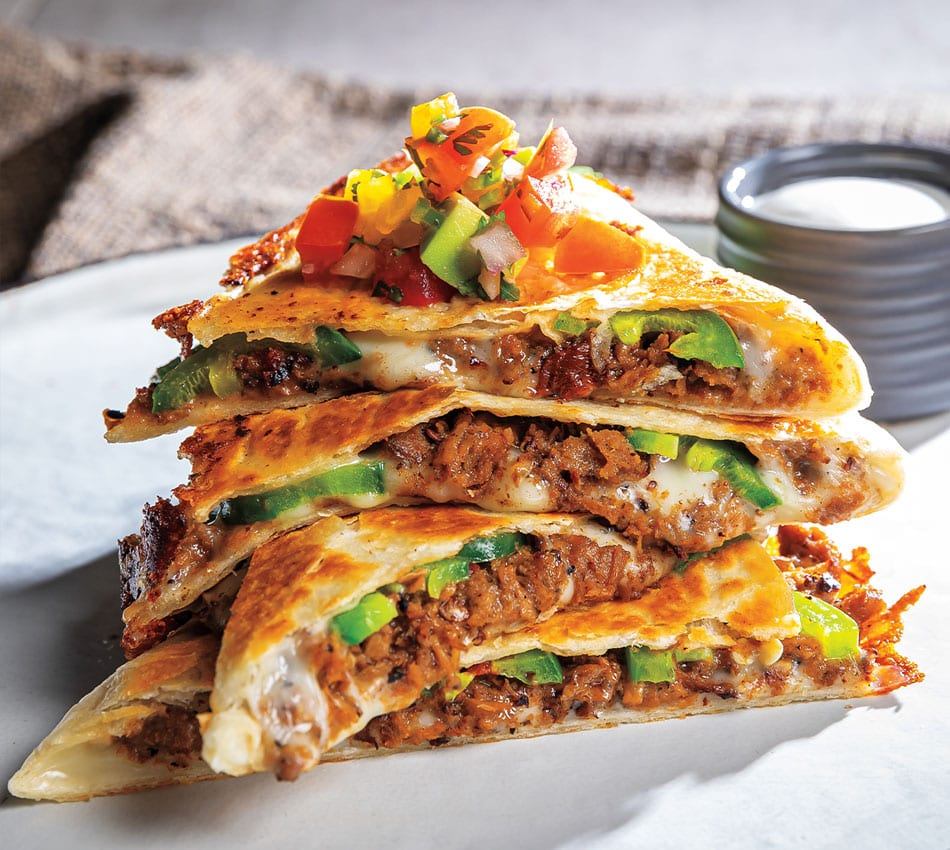 Vegetarian Barbacoa Quesadilla