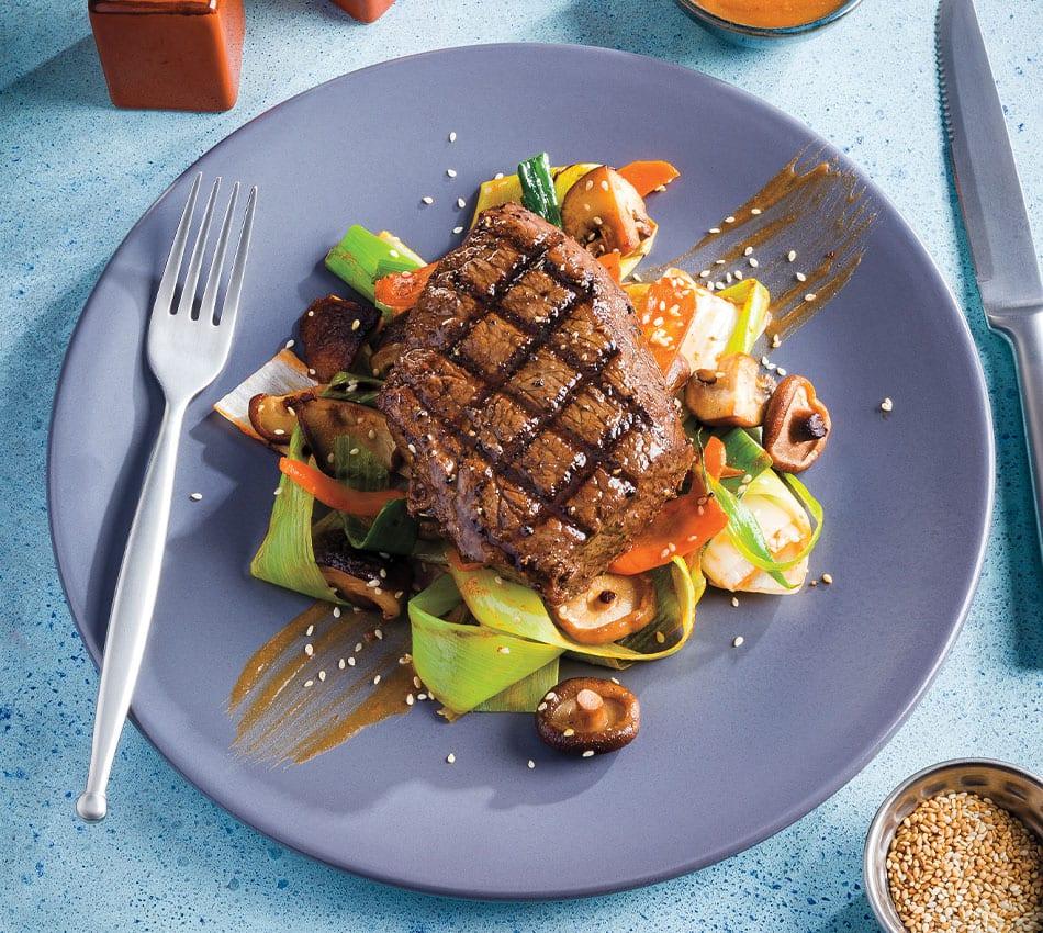 Grilled Tamari Butter Sirloin Steak