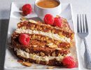 lemon ricotta stuffed french bread with oat, and raspberries, Sysco Simply