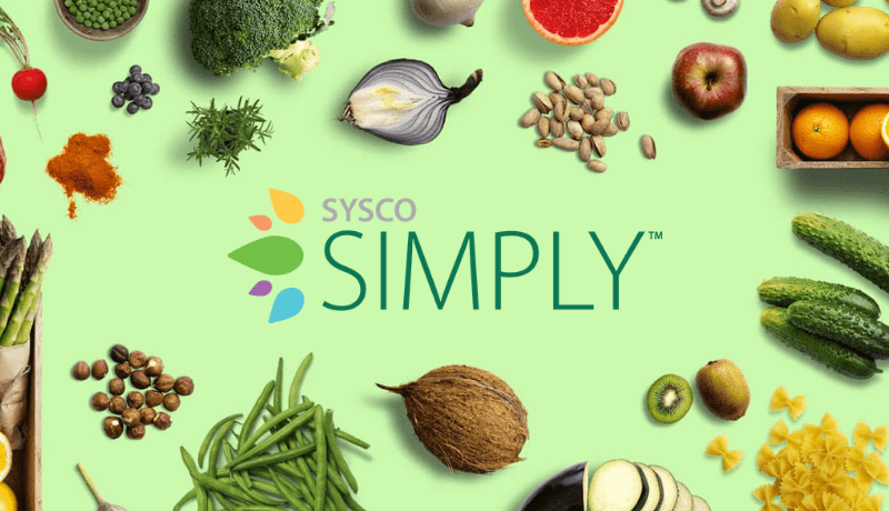 Sysco Simply plant based dining products banner
