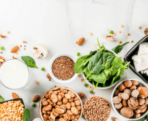 Plant based ingredients including nuts and lettuce