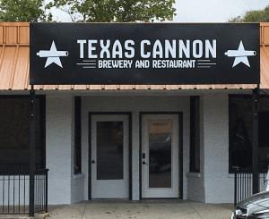 Texas Cannon Brewing Company - restaurant facade