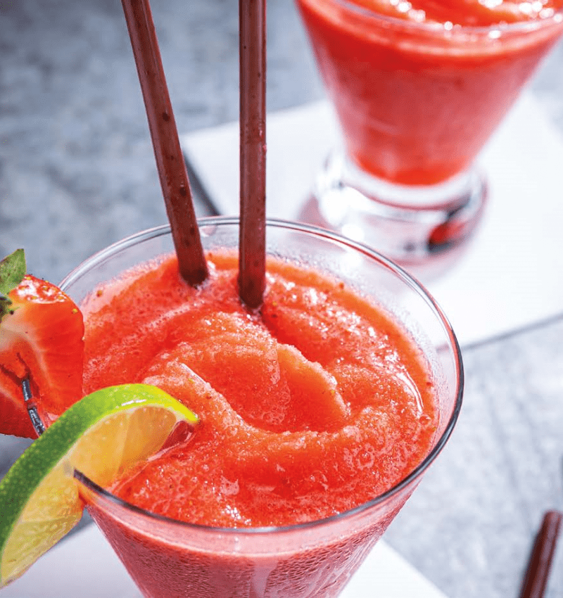 Strawberry Lime Daiquiri Mocktail - Sysco Foodie