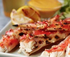 Grilled Alaska King Crab With Tabasco Aioli - Portico Seafood