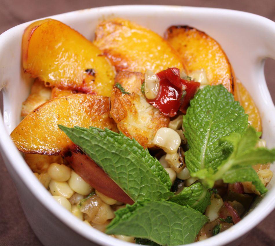 Peach and Corn Dish